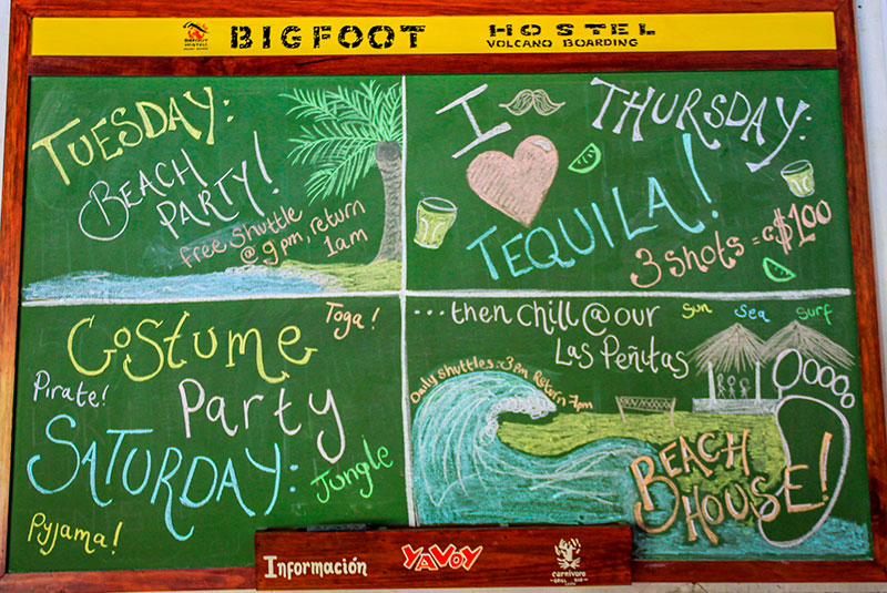 Hostel Bigfoot, León, Nicarágua (festas)
