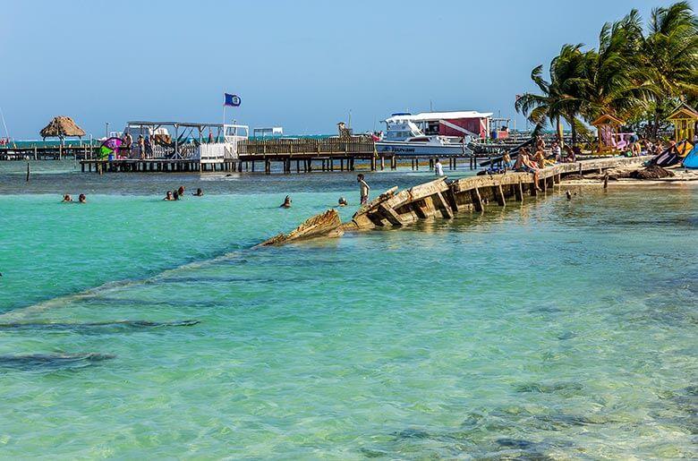 Belize praias