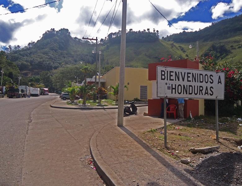 Copán Ruínas - fronteira