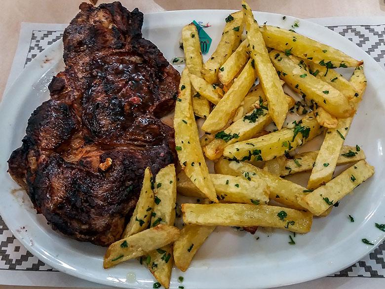bife de chorizo em Buenos Aires