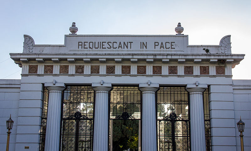 Cemitério turístico em Buenos Aires