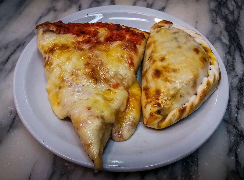 empanada e pizza em Buenos Aires