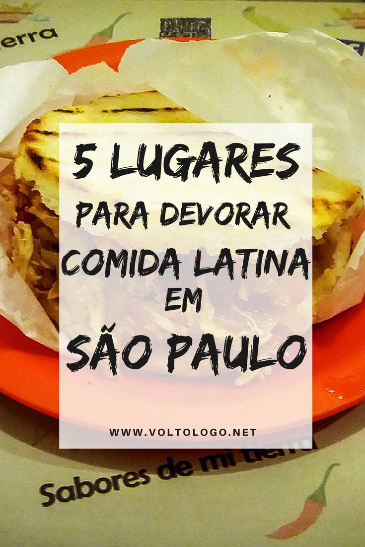 Dicas de lugares para devorar comida latina em São Paulo. Descubra onde comer pratos típicos do Peru, México, Chile, Colômbia e Argentina.