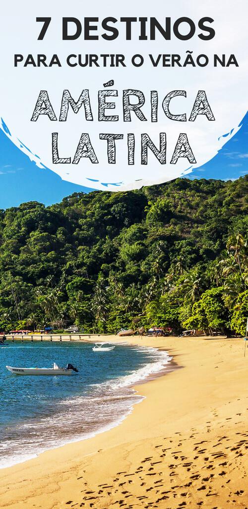 Verão pela América Latina: Dicas de destinos para aproveitar. Descubra quais lugares eu recomendo que você conheça durante a estação mais quente do ano, sem precisar enfrentar as chuvas frequentes. Dicas para viajar por destinos no Brasil, Uruguai, Colômbia, México, Panamá e outros.