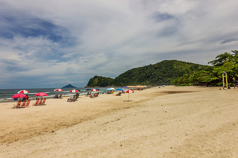 Camburi - litoral norte de São Paulo