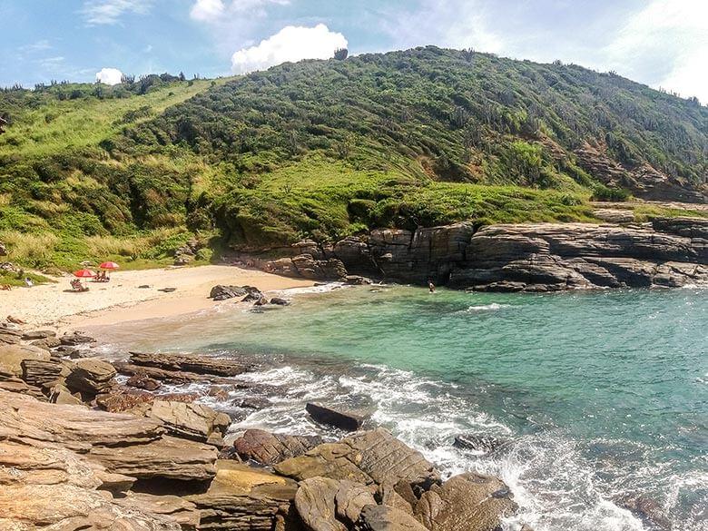 praia de nudismo Olho de Boi, em Búzios