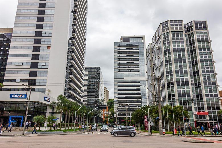 melhores bairros para se hospedar em Curitiba