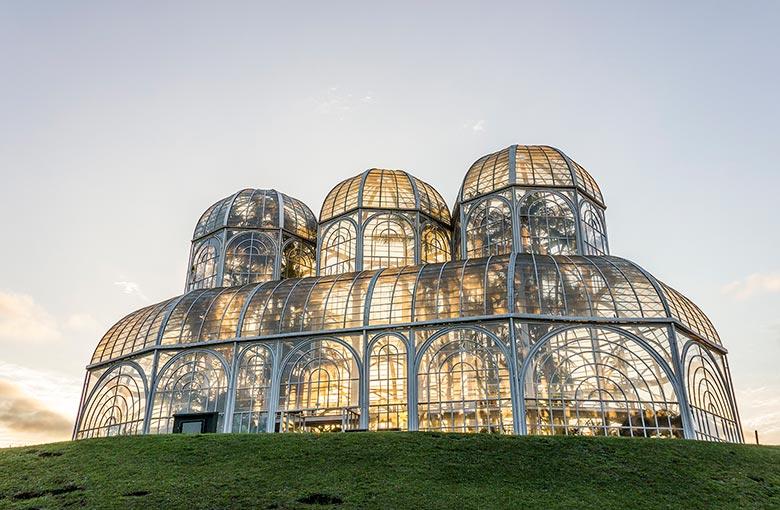 ponto turístico em Curitiba - jardim botânico