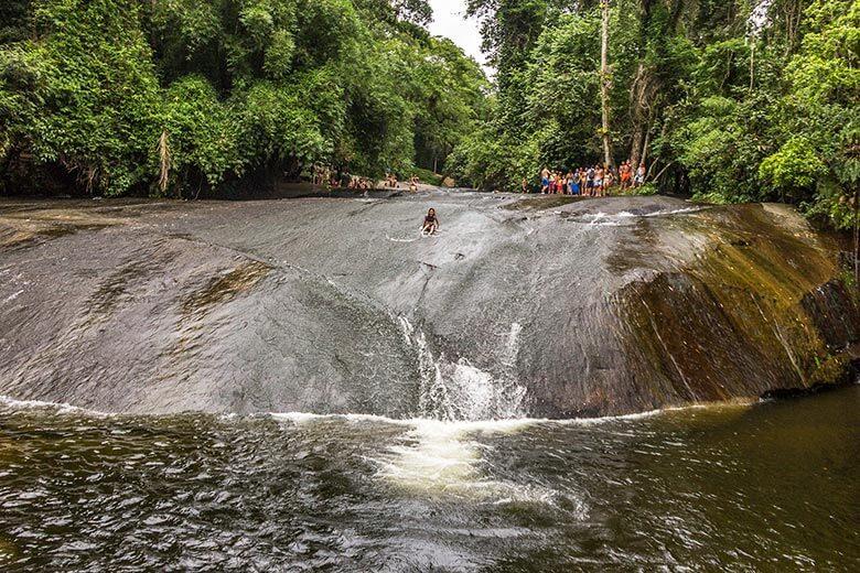 cachoeira do tobogã, em Paraty