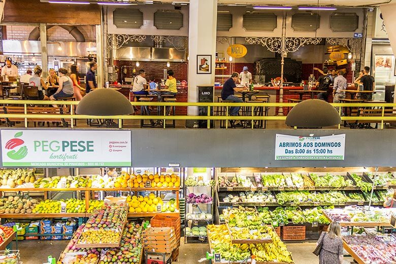 Mercado de Pinheiros, em Pinheiros, SP
