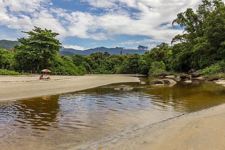 chalés na praia em Ubatuba