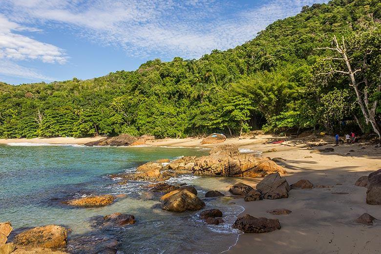 Praia do Cedro em Ubatuba - Trilha das Sete Praias