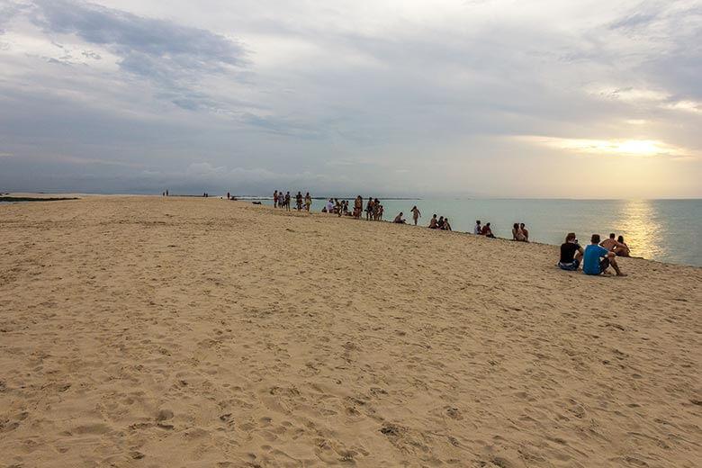 duna do pôr do sol, em Jericoacoara