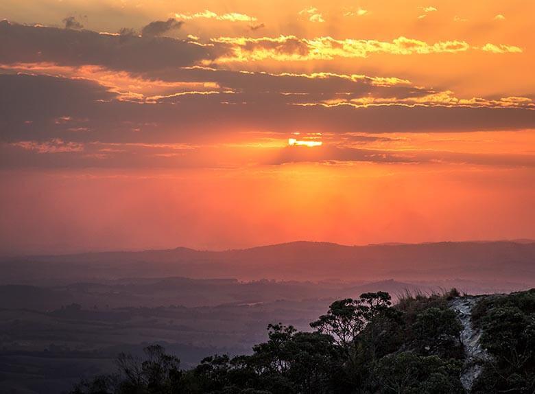 onde ver o pôr do sol em São Thomé das Letras