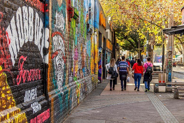 arte de rua em Santiago