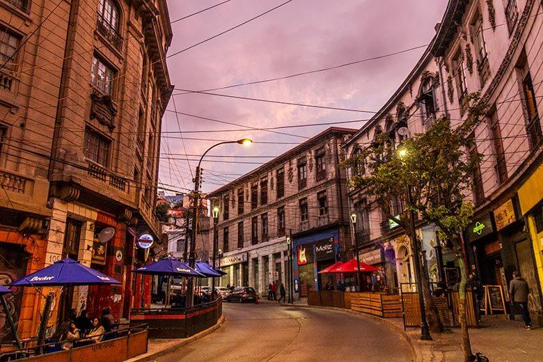Avenida Ecuador em Valparaíso