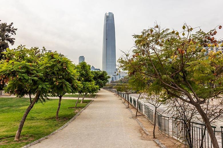 Bairro Providencia em Santiago