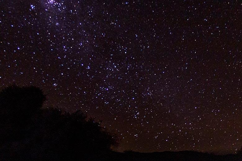 Céu estrelado no Deserto do Atacama