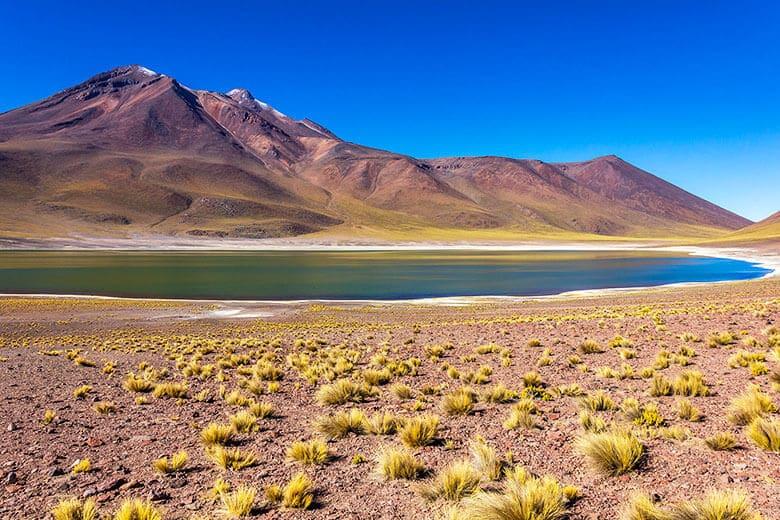 Laguna Miñiques no Deserto do Atacama