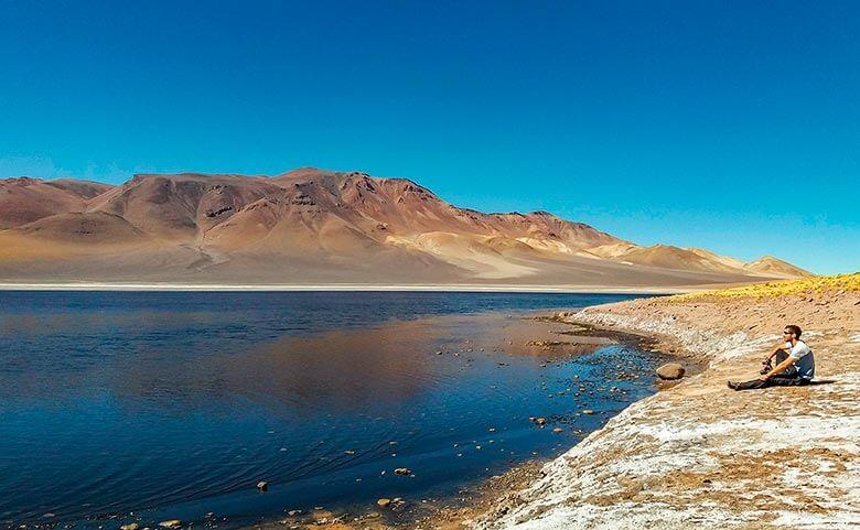 Laguna Negra no Deserto do Atacama
