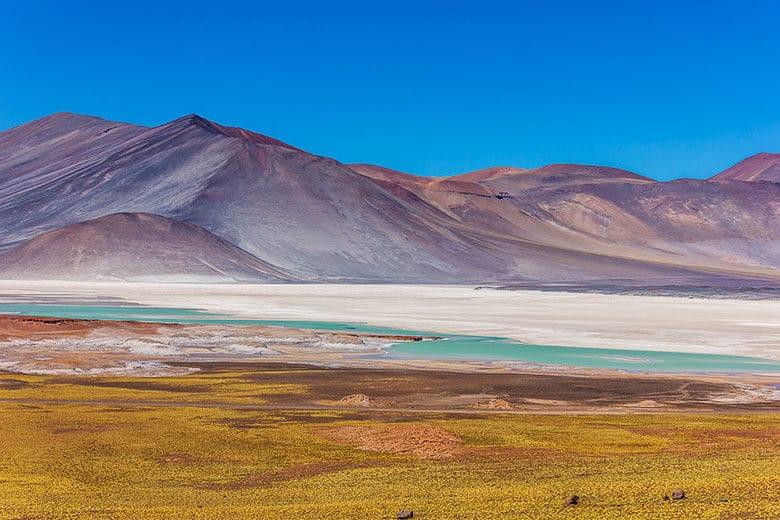 Laguna Tuyaito no Deserto do Atacama