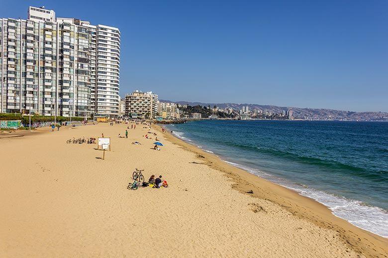 Playa Acapulco em Viña del Mar, Chile