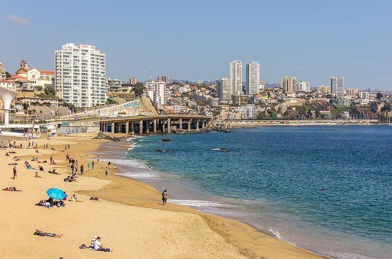 Playa Caleta Abarca em Viña del Mar
