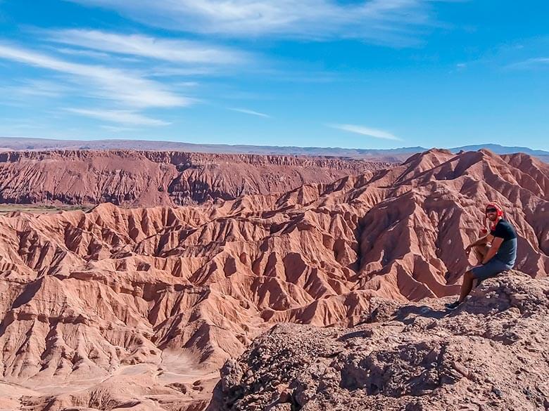 vista durante o passeio de bike no Atacama