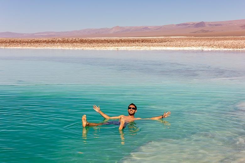 laguna que não afunda no Atacama