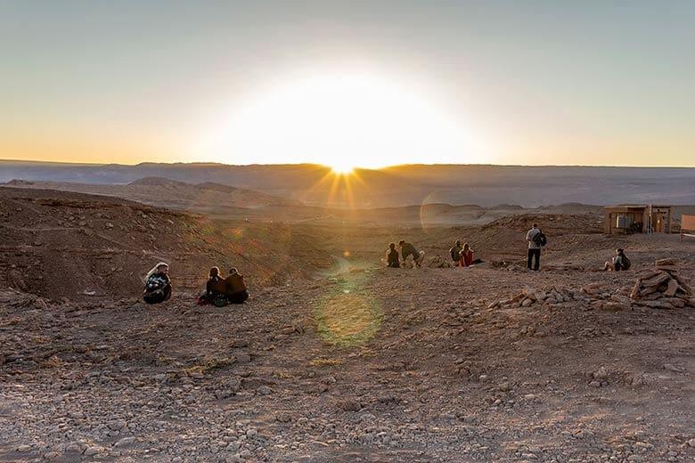 sunset no Atacama