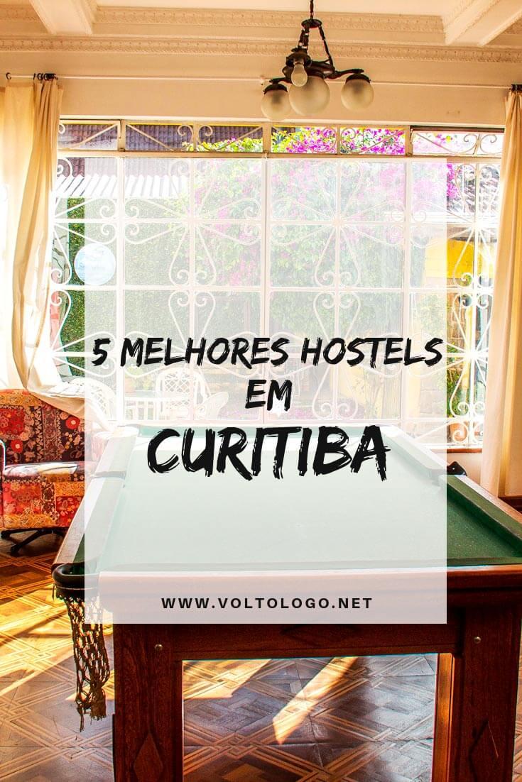 Melhores hostels em Curitiba, no Paraná: Dicas de albergues bons e baratos nos principais bairros da cidade.