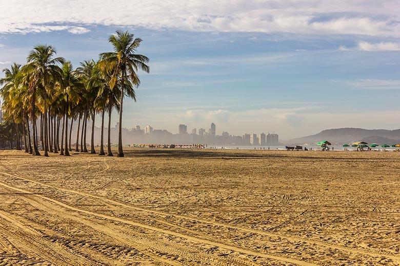 melhores praias de Santos