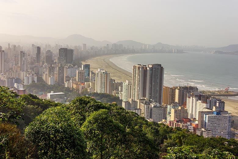 pico da asa delta em Santos