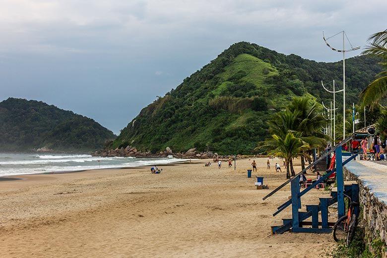 Praia do Tombo, no Guarujá