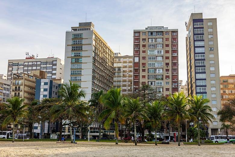 bairros para se hospedar em Santos