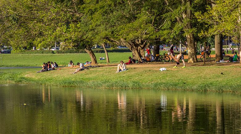 passeio no Parque Ibirapuera