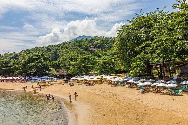 pousadas pé na areia em Ilhabela