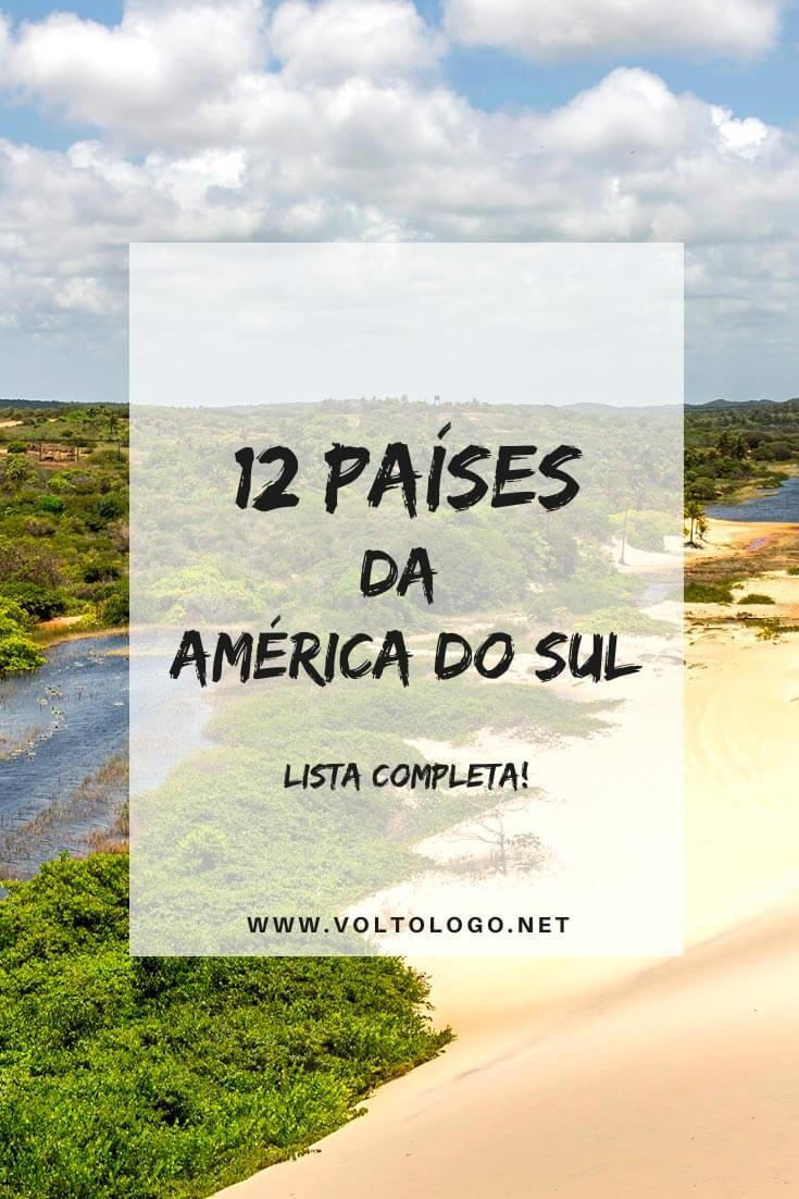 Países da América do Sul: Descubra a lista completa de países no nosso subcontinente, territórios ultramarinos e dicas de viagem e turismo em cada um destes lugares.