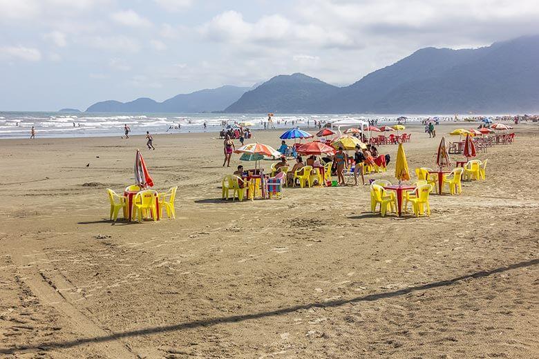 Praia do Centro de Peruíbe