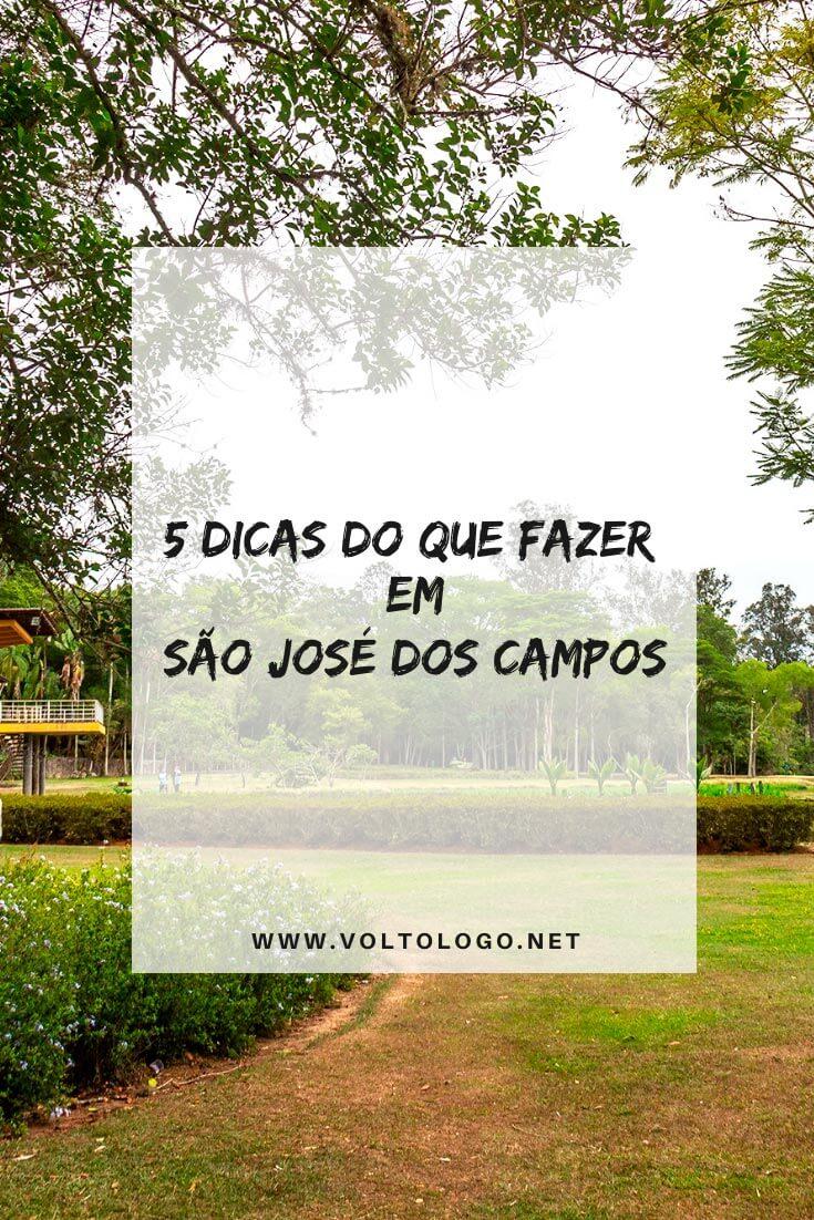 O que fazer em São José dos Campos: Descubra quais as principais atrações, pontos turísticos, passeios e lugares para conhecer na cidade em um roteiro de até 2 dias.