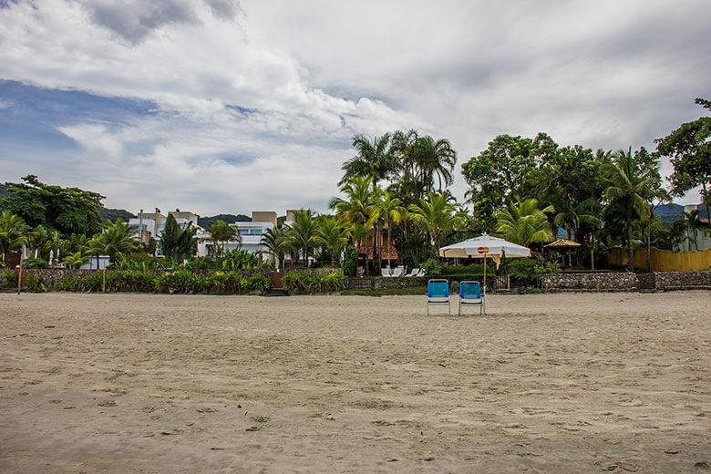hotel pé na areia litoral norte de SP